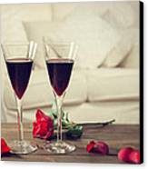 Red Wine Canvas Print by Amanda And Christopher Elwell