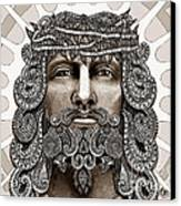 Redeemer - Modern Jesus Iconography - Copyrighted Canvas Print by Christopher Beikmann