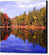 Reflected Autumn Lake Canvas Print by William Carroll