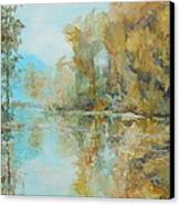 Reflecting On Reflections Canvas Print by Elizabeth Crabtree