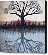 Reflecting Tree Canvas Print by Janet King
