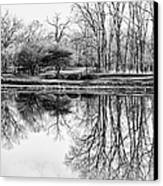 Reflection In Black And White Canvas Print by Julie Palencia