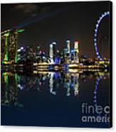 Reflections At Marina Bay Canvas Print by Jenny Zhang