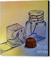 Reflective Still Life Jars Canvas Print by Brenda Brown