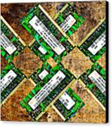 Refresh My Memory - Computer Memory Cards - Electronics - Abstract Canvas Print by Andee Design