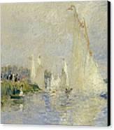 Regatta At Argenteuil Canvas Print by Pierre Auguste Renoir