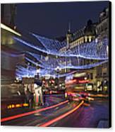 Regent Street Lights Canvas Print by Matthew Gibson
