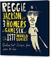 Reggie Jackson New York Yankees Canvas Print by Jay Perkins
