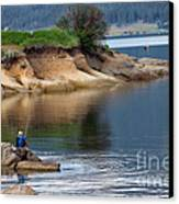 Relaxed Fisherman Canvas Print by Robert Bales