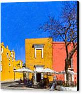 Relaxing In Colorful Puebla Canvas Print by Mark E Tisdale