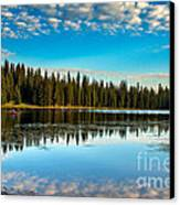 Relaxing On The Lake Canvas Print by Robert Bales