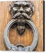 Renaissance Door Knocker Canvas Print by Melany Sarafis