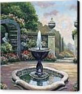 Renaissance Garden Canvas Print by John Zaccheo