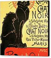 Reopening Of The Chat Noir Cabaret Canvas Print by Theophile Alexandre Steinlen