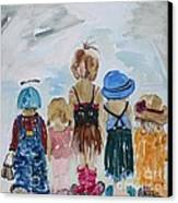 Respectively Dedicated To Childhood Canvas Print by Vicki Aisner Porter