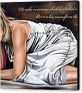 Revelations Three Verse Five Canvas Print by Ilse Kleyn