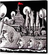 Revolutionary Ship Canvas Print by Vitaliy Gonikman
