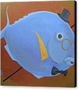 Rhapsody In Blue Canvas Print by Marina Gnetetsky