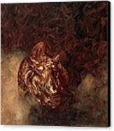 Rhino Charger Heaven Canvas Print by Sarah Soward