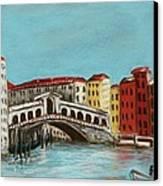 Rialto Bridge Canvas Print by Anastasiya Malakhova