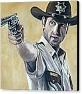 Rick Grimes Canvas Print by Tom Carlton
