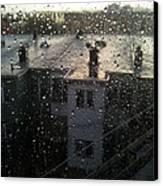 Ridgewood Houses Wet With Rain Canvas Print by Mieczyslaw Rudek Mietko