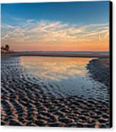 Ripples In The Sand Canvas Print by Debra and Dave Vanderlaan