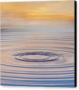 Ripples On A Still Pond Canvas Print by Tim Gainey