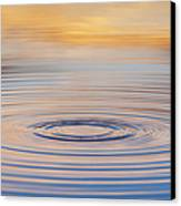 Ripples On A Still Pond Canvas Print by Tim Gainey