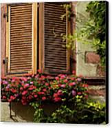 Riquewihr Window Canvas Print by Brian Jannsen
