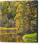 River In Fall Canvas Print by Rhonda Humphreys