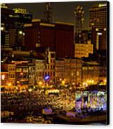 Riverfront Evening Concert Canvas Print by Diana Powell