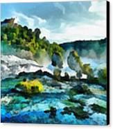 Riverscape Canvas Print by Ayse Deniz