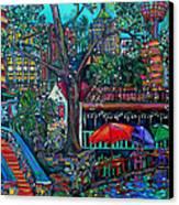 Riverwalk Canvas Print by Patti Schermerhorn