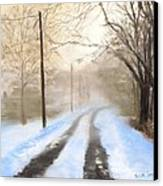 Road To The Ice House Canvas Print by Jack Skinner