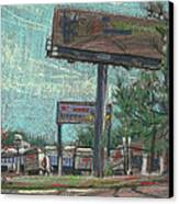 Roadside Billboards Canvas Print by Donald Maier
