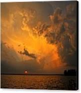 Roar Of The Heavens Canvas Print by Terri Gostola