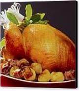 Roast Turkey Canvas Print by The Irish Image Collection