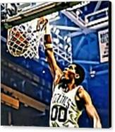 Robert Parish  Canvas Print by Florian Rodarte