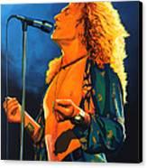 Robert Plant Canvas Print by Paul Meijering