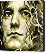 Robert Plant. Golden God Canvas Print by Tanya Filichkin
