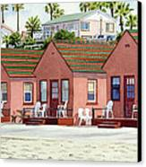 Robert's Cottages Oceanside Canvas Print by Mary Helmreich