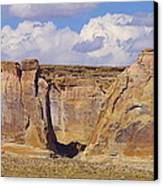 Rock Formations At Capital Reef Canvas Print by Jeff Swan