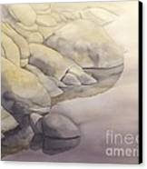 Rock Meets Water Canvas Print by Robert Hooper