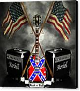 Rock N Roll Crest- Usa Canvas Print by Frederico Borges