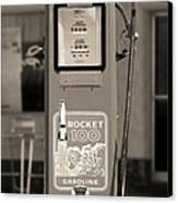 Rocket 100 Gasoline - Tokheim Gas Pump 2 Canvas Print by Mike McGlothlen