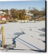 Rockport Maine In Winter Canvas Print by Keith Webber Jr