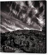 Rocks Clouds Water Canvas Print by Bob Orsillo