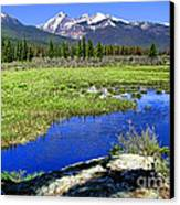 Rocky Mountains River Canvas Print by Olivier Le Queinec
