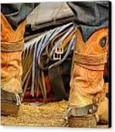 Rodeo Cowboy Tools Of The Trade Canvas Print by Miki  Finn